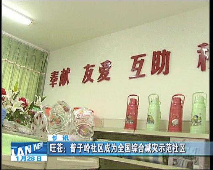 旺苍:普子岭社区成为全国综合减灾示范社区