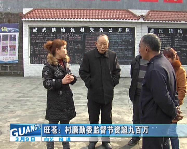 旺苍:村廉勤委监督节资超九百万